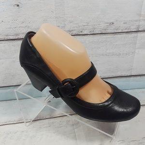 Life Stride Soft System Black Heels Mary Jane 9.5